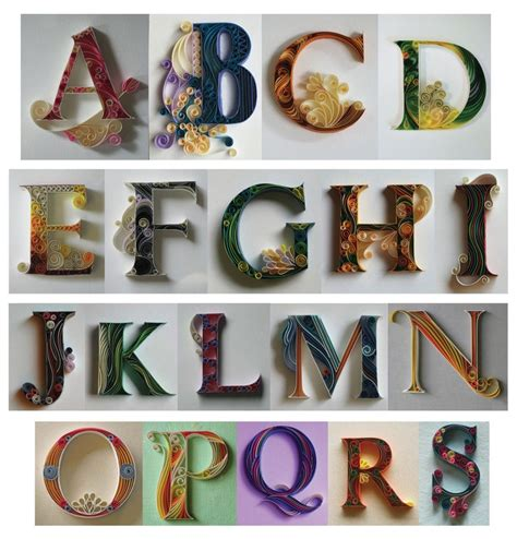 printable letters for quilling quill letters sabeena karnik quilling pinterest