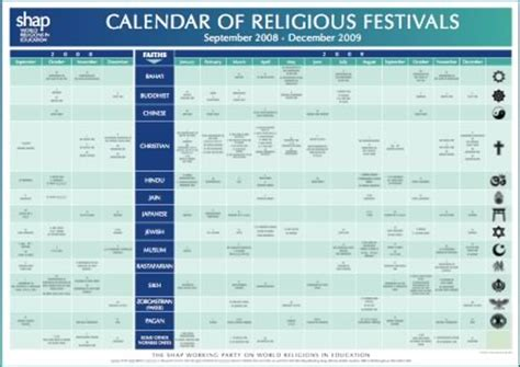 Religious Calendar Purchasing