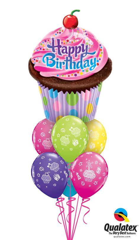 Balon Foil Hbd Cupcake Besar big happy birthday pink cupcake balloon nation