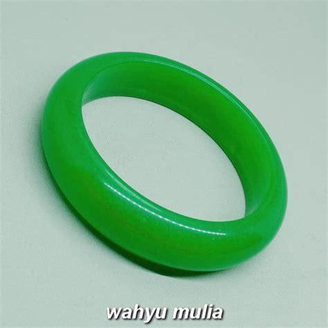 Giok Air gelang batu giok air hijau asli kode 996 wahyu mulia