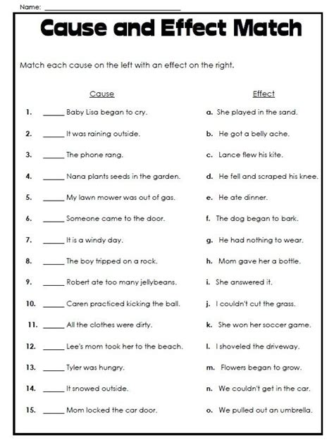cause and effect essay sles free best 25 worksheets ideas on