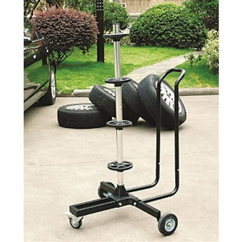 tree stand with wheels car alloy 4 wheel mobile tyre storage tree stand trolley