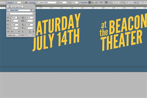 illustrator kerning tutorial how to design a folky gig poster in adobe illustrator