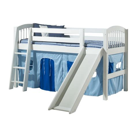 Loft Bunk Bed With Slide Camaflexi C50 Arch Spindle Low Loft Bed With Slide Atg Stores