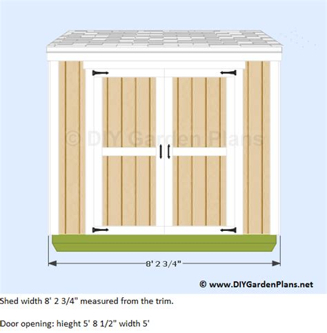4 X 8 Lean To Shed by 4 215 8 Lean To Shed Plans