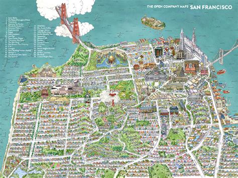 map of san francisco san francisco map the open company borgarmynd