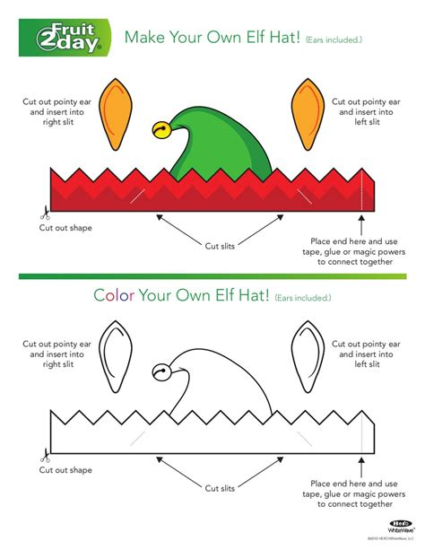 printable elf hat with ears issuu elf hat click here to print by meg fruitday