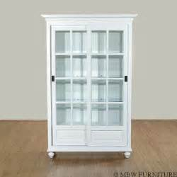 White Curio Cabinet With Glass Doors Solid Wood White Finish Sliding Glass Curio Hutch China