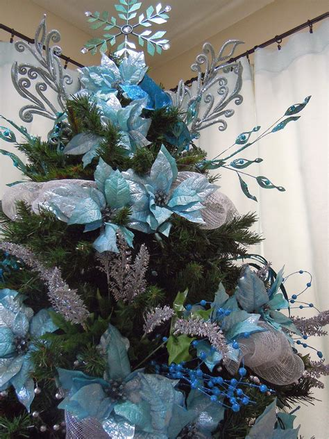 blue and silver cone christmas tree cool ideas for turqouise tree decoration happy day