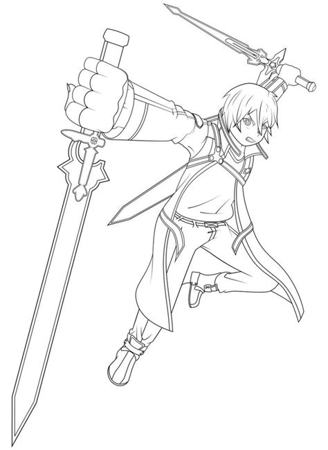 coloring pages s words sword art online kirito coloring pages images color me