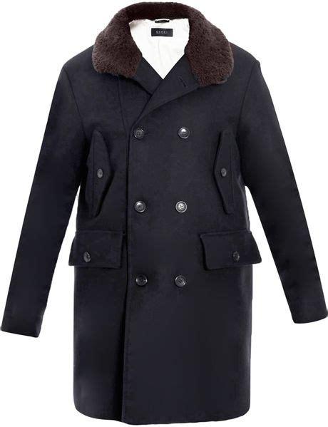 Multi Coat gucci shearling collar multi coat in blue for multi lyst