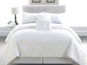 White Bedding Sets 6 King Melia White Comforter Set Ebay