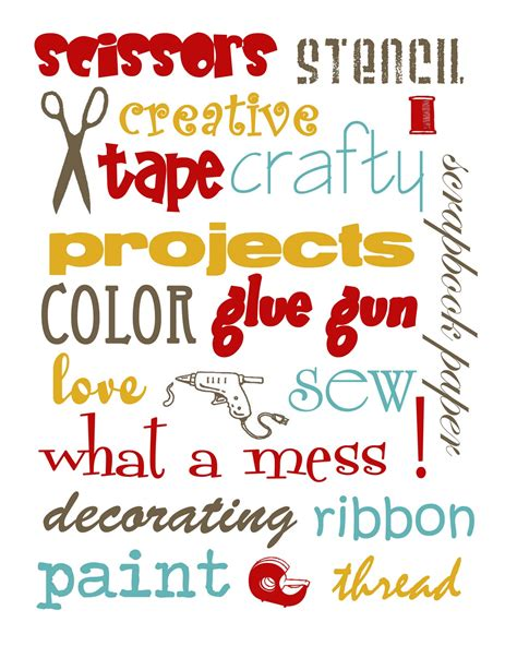 craft printouts free craft room printables risenmay