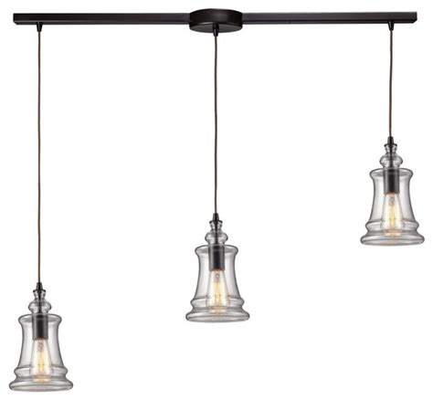 multi pendant lighting kitchen three light oiled bronze multi light pendant