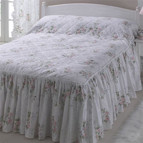 Quilted Fitted Bedspread by Vantona Country Pink Quilted Fitted Bedspread