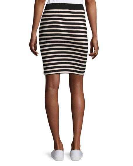 atm anthony melillo striped jersey pencil skirt