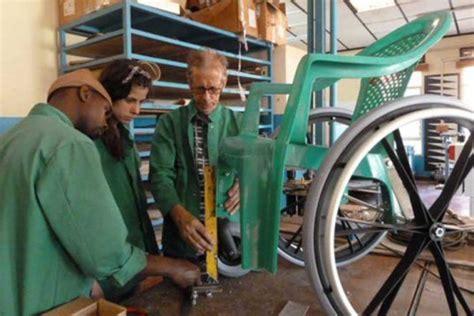 wheelchair diy simple wheelchairs made from reused plastic chairs help injured in rwanda