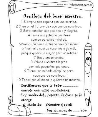 carta para mi maestra preescolar sorpresas de silvia actividades para el d 237 a del maestro
