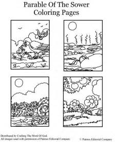 parable of the sower coloring page 171 crafting the word of god