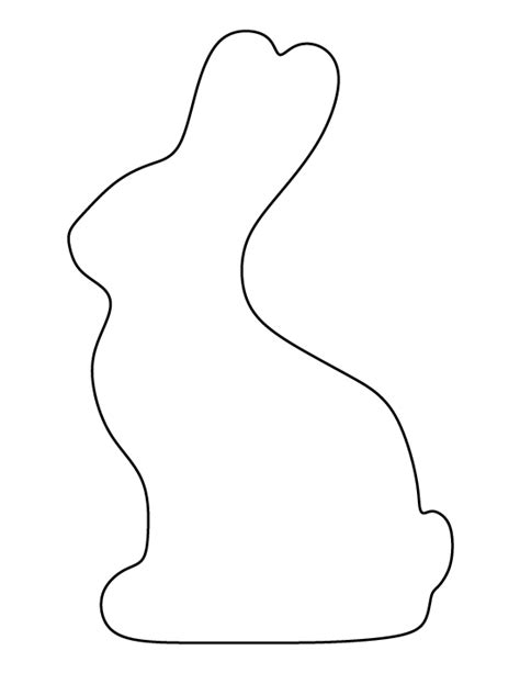 printable chocolate bunny template