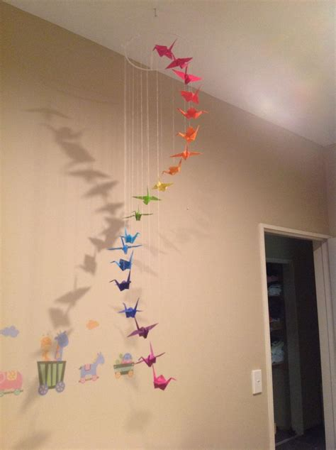 How To Make A Paper Crane Mobile - 48 best images about paper cranes on crane