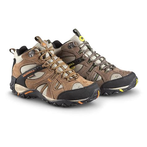 merrell mens boots merrell s yokota trail mid hiking shoes waterproof