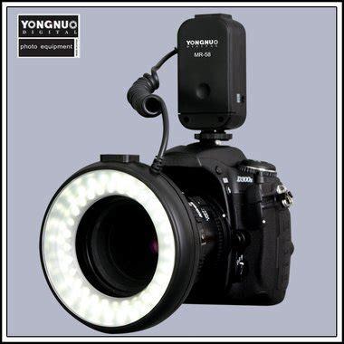 ring light flash canon yongnuo mr 58 macro led macro ring flash light for canon