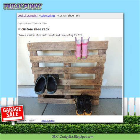 Garage Sale Okc by Craigslist Ads Not So Custom Shoe Rack Craigslist