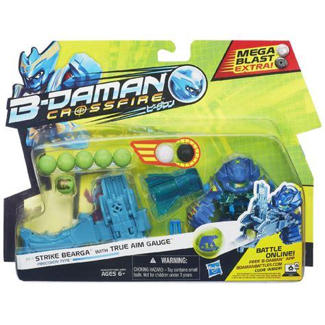 b daman figure b daman strike bearga figure with true aim barrelhasbro