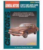 Chilton 28440 Chevrolet Mid Size Cars 1964 88 Chilton