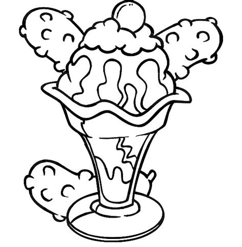 free coloring pages of ice cream sundae