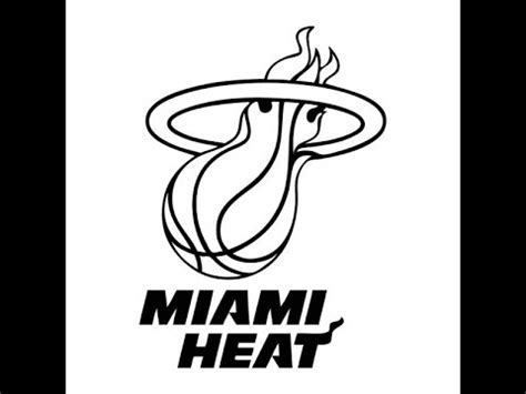 how to draw the heat logo how to draw the miami heat logo easy