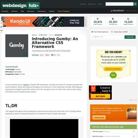 tutorial css framework a great gumby css framework tutorial