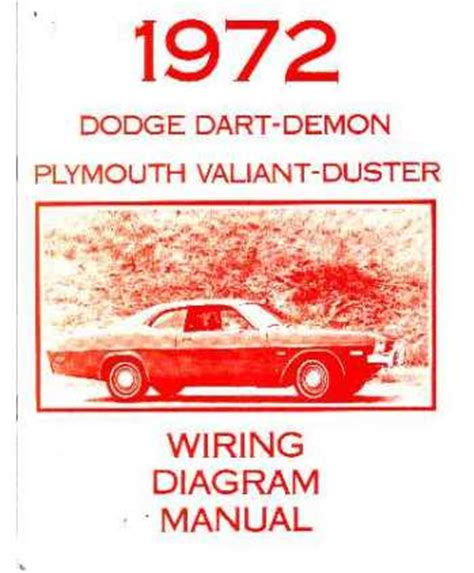 1972 dodge dart plymouth duster valiant wiring diagrams