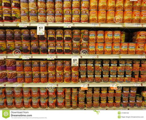 Shelf Of Canned by Canned Food Shelf Editorial Stock Photo Image Of Canned