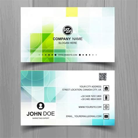 who uses business cards modern business card of squares vector free