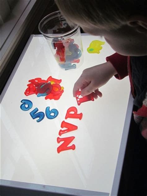 light table preschool diy colored glue letters numbers and shapes for the