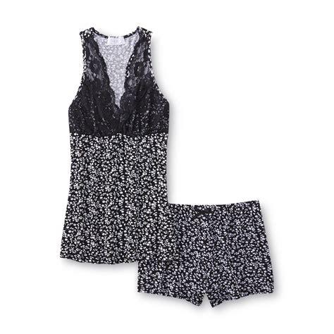 Big Size Floral Blouse By Kathy Ireland kathy ireland s pajama tank top shorts floral
