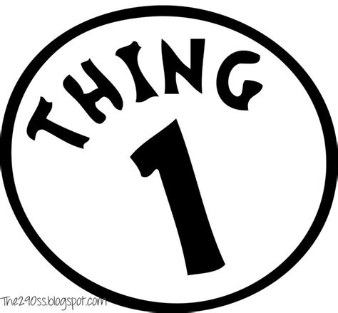 thing 1 template thing one and thing two treat bags free printables