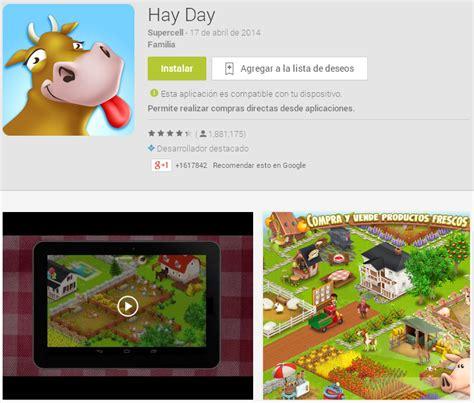 hayday for android juego hay day para android tecnopin tu gu 237 a de medios sociales
