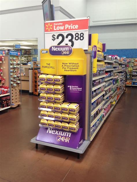 Nexium Shelf by Walmart Endcap Nexium June 2014 Walmart