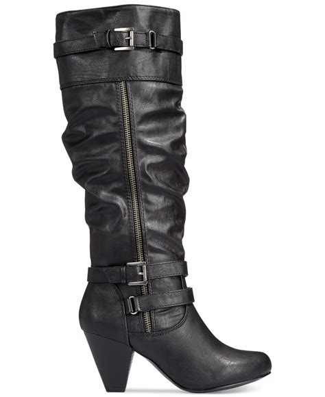 rage eliven slouchy leather boots in black lyst