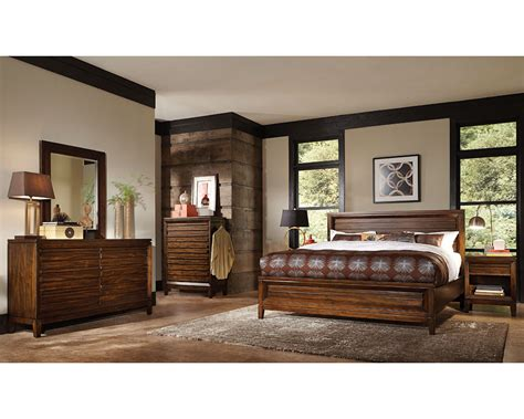 aspenhome bedroom furniture aspenhome bedroom set w panel bed walnut park asi05 412set