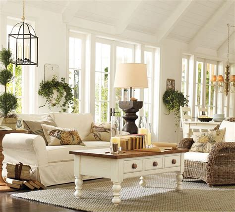 pottery barn livingroom 50 cozy and inviting barn living rooms digsdigs