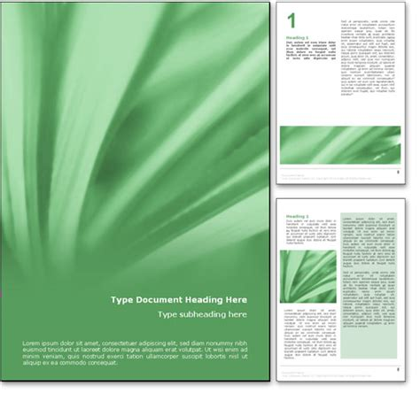 nature templates for word royalty free abstract leaves microsoft word template in green