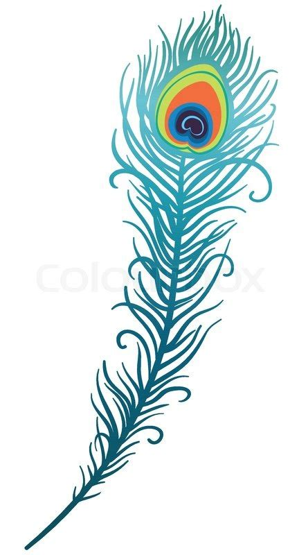 My Home Decor Style Illustration Of Beautiful Peacock Feather Stock Vector