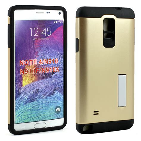 Slim Armor Samsung Note 4 wholesale samsung galaxy note 4 slim fit armor hybrid kickstand chagne gold