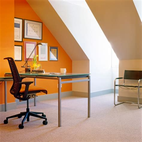 Orange Office by Architecture Works Photography