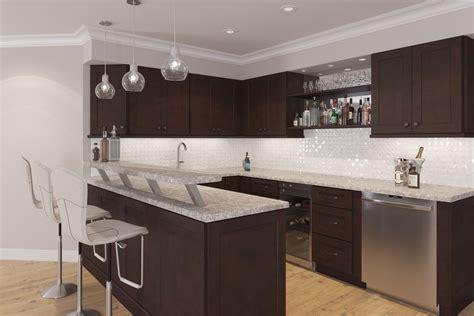 cherry shaker kitchen cabinets dark chocolate shaker dark chocolate shaker ready to assemble kitchen cabinets