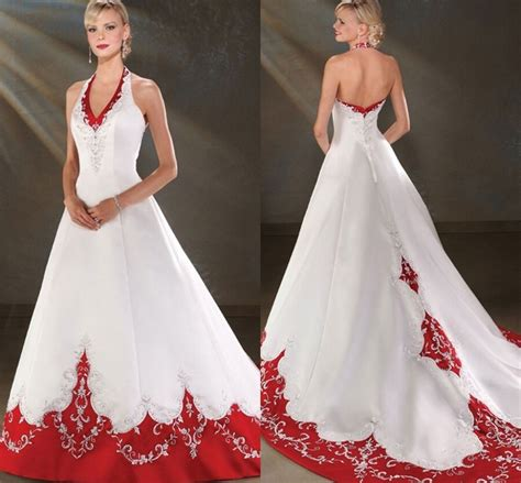 2016 backless halter satin a line cheap and white